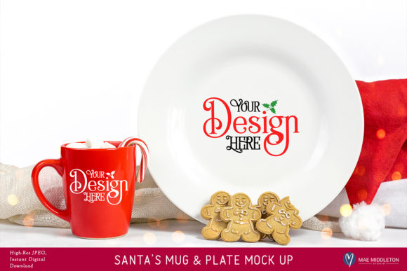 Christmas Mock Up Graphic Product Mockups By maemiddletonstudio