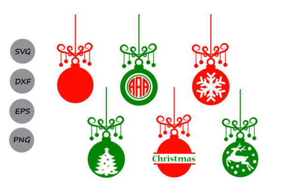 Download Free Christmas Ornament Graphic By Cosmosfineart Creative Fabrica for Cricut Explore, Silhouette and other cutting machines.