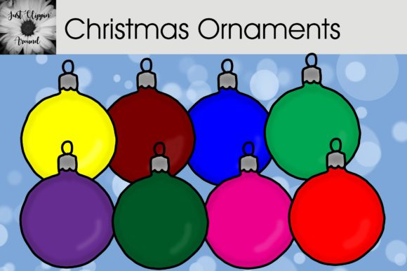 Christmas Ornaments Graphic Illustrations By justclippinaround