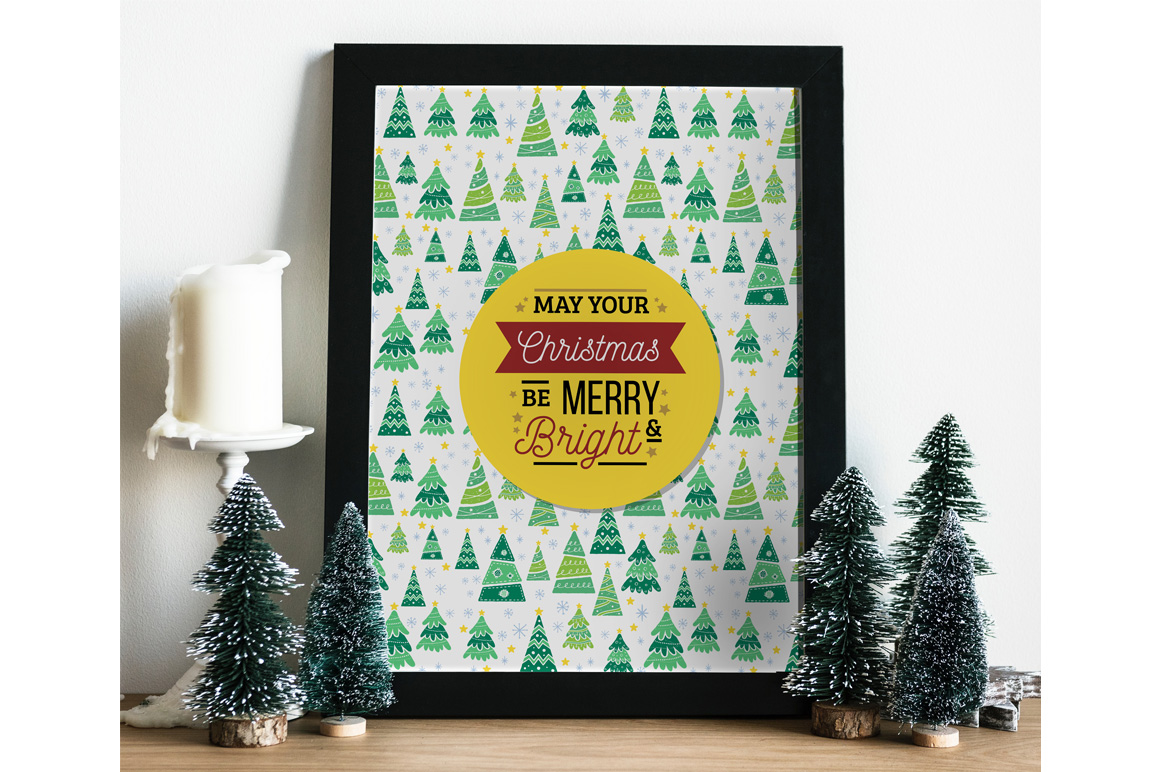 Download Free Christmas Photo Frame Mockup With Smart Object Graphic By for Cricut Explore, Silhouette and other cutting machines.