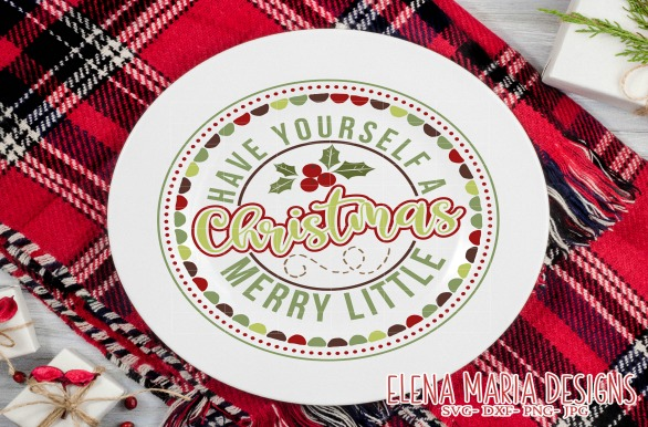 Christmas Plate Circle Svg Design Grafico Por Elena Maria