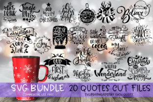 Christmas Quotes SVG Bundle Graphic By SVG Story