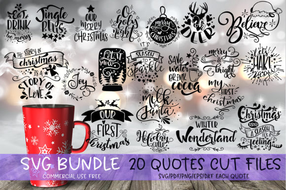 Christmas Quotes Bundle Graphic By Svg Story Creative Fabrica