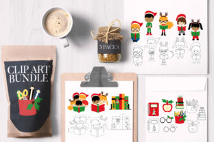 Print on Demand: Christmas Reading Bundle Graphic Illustrations By Revidevi
