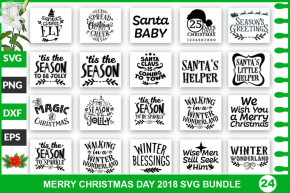 Print on Demand: Christmas Bundle   Graphic Crafts By SubornaStudio
