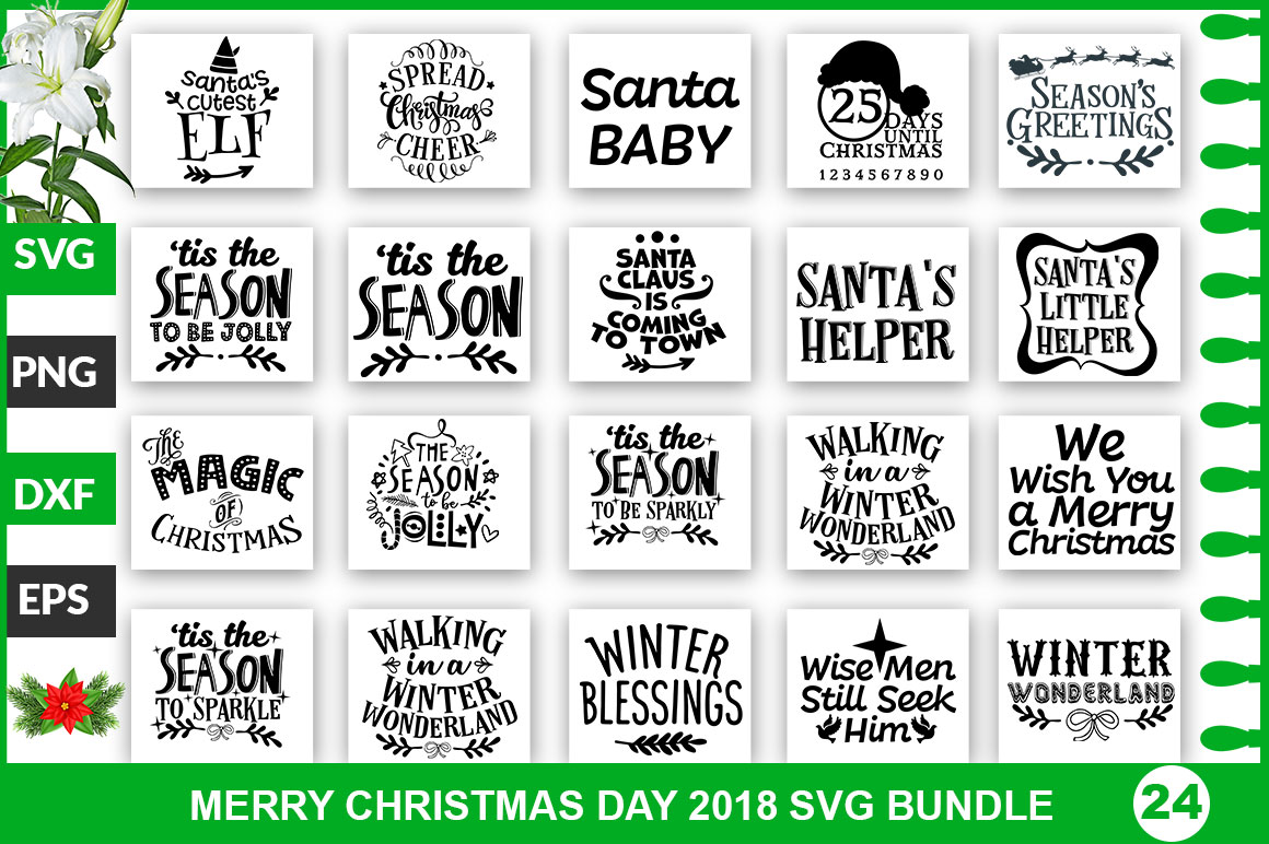 Download Free Christmas Bundle Graphic By Subornastudio Creative Fabrica for Cricut Explore, Silhouette and other cutting machines.