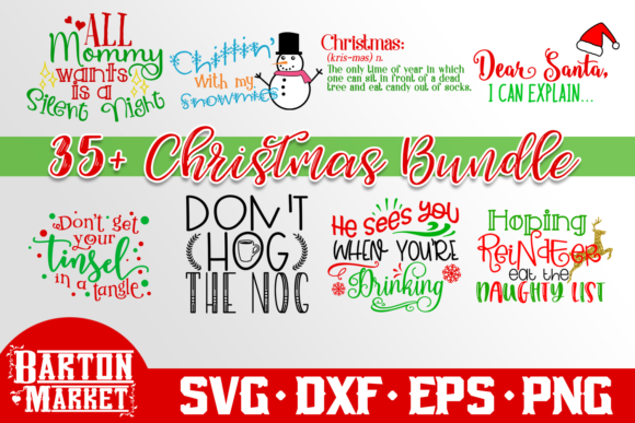Download Free Christmas Svg Bundle Grafik Von Barton Market Creative Fabrica for Cricut Explore, Silhouette and other cutting machines.