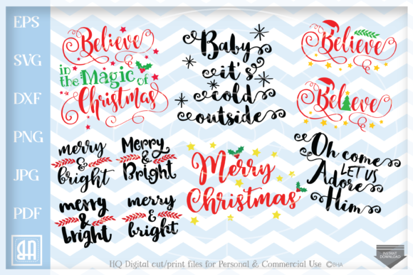 Download Free Christmas Bundle Graphic By Blueberry Hill Art Creative Fabrica SVG Cut Files