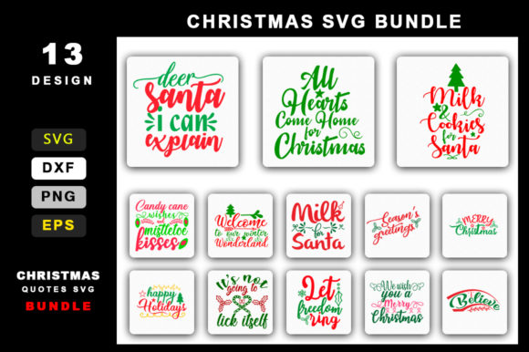 Download Free Christmas Bundle Graphic By Handmade Studio Creative Fabrica for Cricut Explore, Silhouette and other cutting machines.