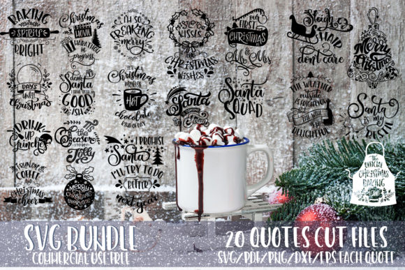 Download Free Christmas Quotes Bundle Graphic By Svg Story Creative Fabrica SVG Cut Files