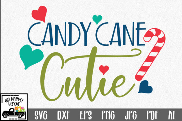 Download Free Christmas Candy Cane Cutie Graphic By Oldmarketdesigns SVG Cut Files