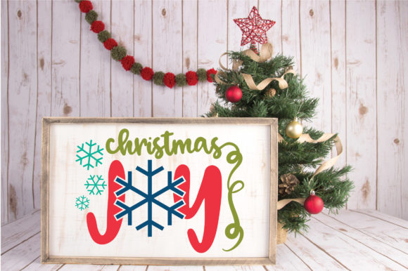 Download Free Christmas File Christmas Joy Graphic By Oldmarketdesigns for Cricut Explore, Silhouette and other cutting machines.