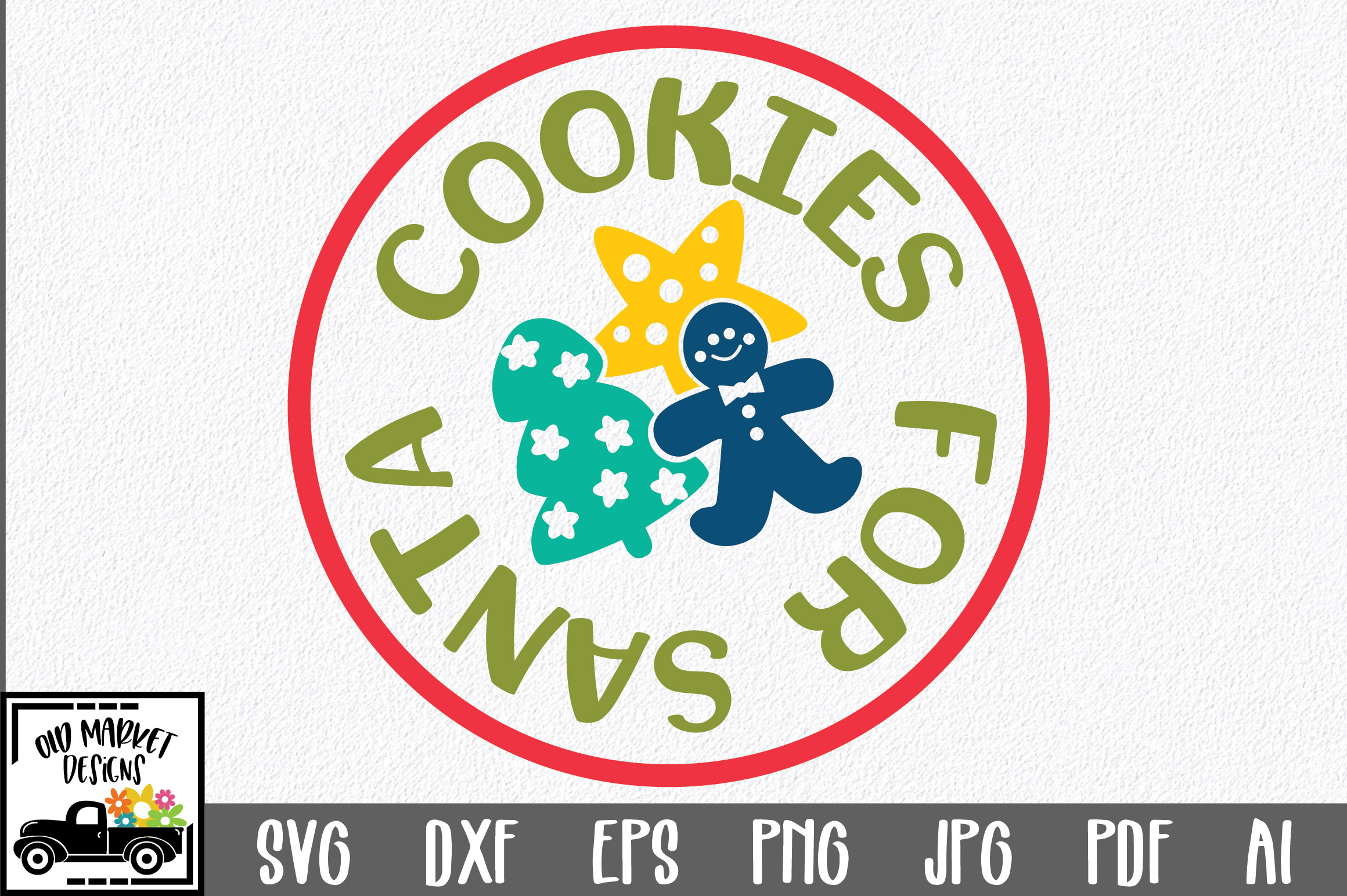 Download Free Christmas Cookies For Santa Graphic By Oldmarketdesigns for Cricut Explore, Silhouette and other cutting machines.