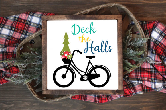 Download Free Christmas File Deck The Halls Graphic By Oldmarketdesigns for Cricut Explore, Silhouette and other cutting machines.