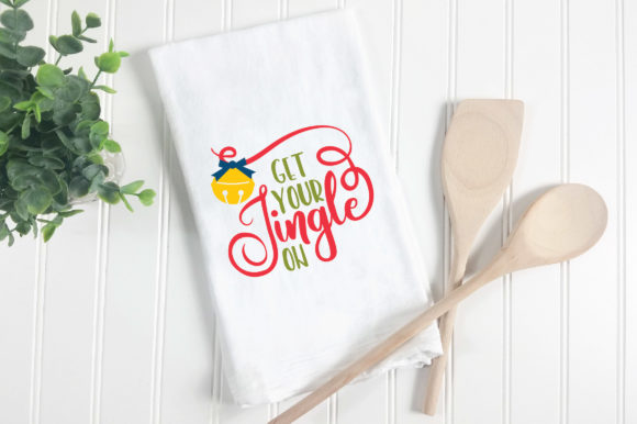 Christmas SVG Cut File - Get Your Jingle on Graphic Crafts By oldmarketdesigns - Image 2