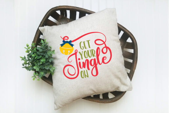 Christmas SVG Cut File - Get Your Jingle on Graphic Crafts By oldmarketdesigns - Image 5