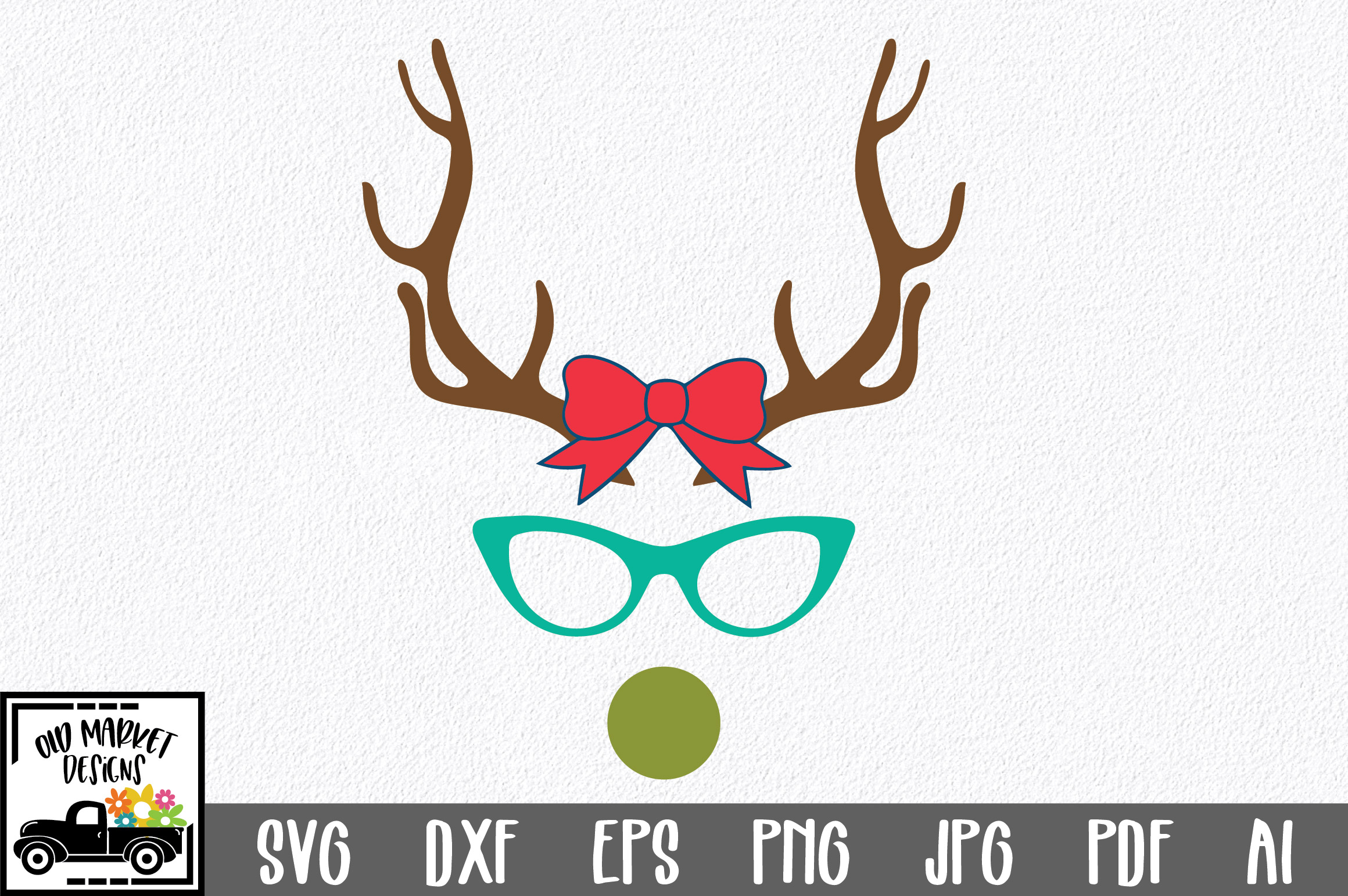 Download Free Christmas File Girl Reindeer Graphic By Oldmarketdesigns for Cricut Explore, Silhouette and other cutting machines.
