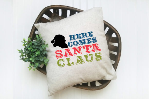 Print on Demand: Christmas File - Here Comes Santa Claus Graphic Crafts By oldmarketdesigns - Image 4