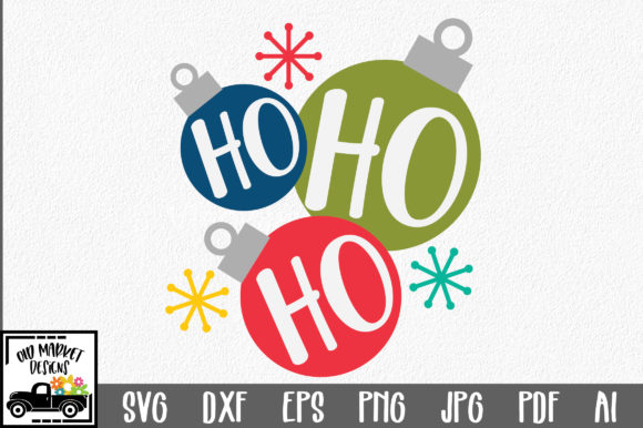 Christmas SVG Cut File - Ho Ho Ho SVG Graphic Crafts By oldmarketdesigns