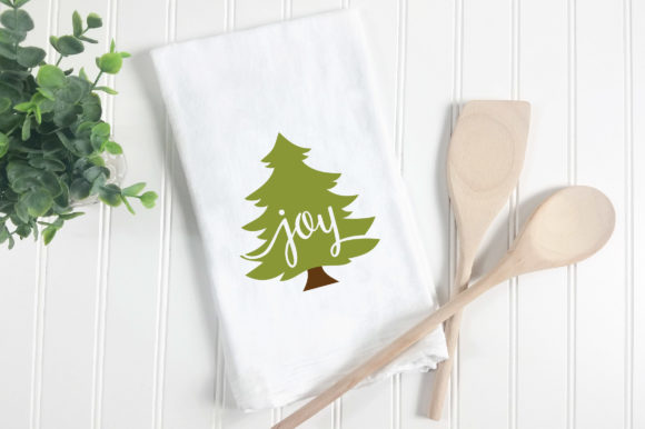 Christmas SVG Cut File - Joy Christmas Tree SVG Graphic Crafts By oldmarketdesigns - Image 2
