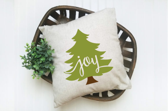 Christmas SVG Cut File - Joy Christmas Tree SVG Graphic Crafts By oldmarketdesigns - Image 4