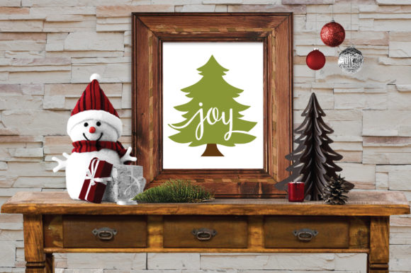 Christmas SVG Cut File - Joy Christmas Tree SVG Graphic Crafts By oldmarketdesigns - Image 6