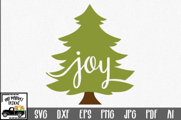 Christmas Joy Christmas Tree Graphic By Oldmarketdesigns