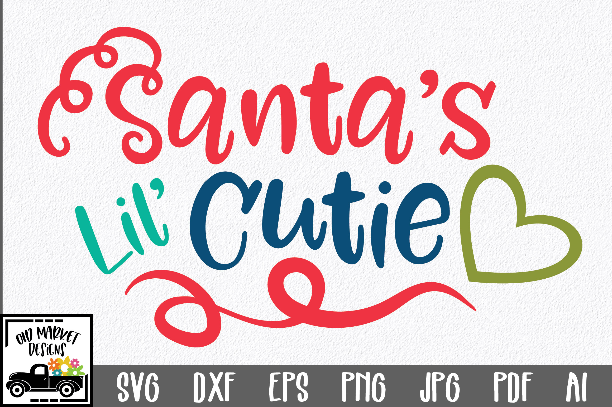 Download Free Christmas Santa S Lil Cutie Graphic By Oldmarketdesigns for Cricut Explore, Silhouette and other cutting machines.