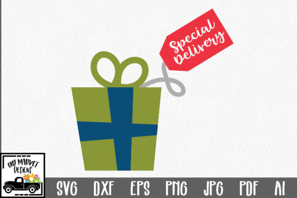 Download Free Christmas Special Delivery Graphic By Oldmarketdesigns SVG Cut Files