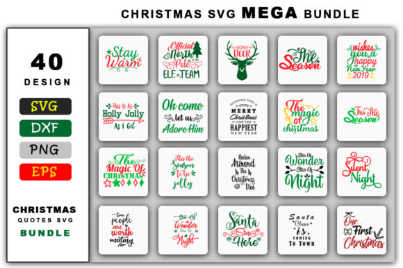 Download Free Christmas Mega Bundle Graphic By Handmade Studio Creative Fabrica for Cricut Explore, Silhouette and other cutting machines.