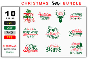 Download Free Christmas Saying Bundle Graphic By Handmade Studio Creative for Cricut Explore, Silhouette and other cutting machines.