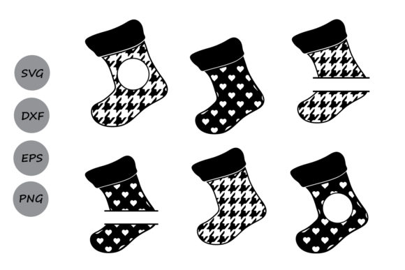 Download Free Christmas Stockings Graphic By Cosmosfineart Creative Fabrica for Cricut Explore, Silhouette and other cutting machines.