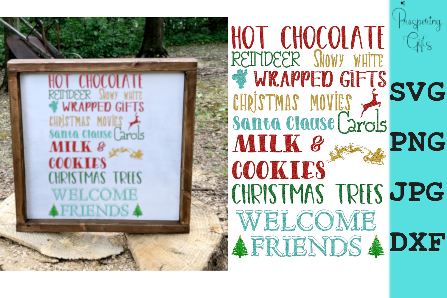 Download Free Christmas Subway Graphic By Prospering Gifts Creative Fabrica for Cricut Explore, Silhouette and other cutting machines.