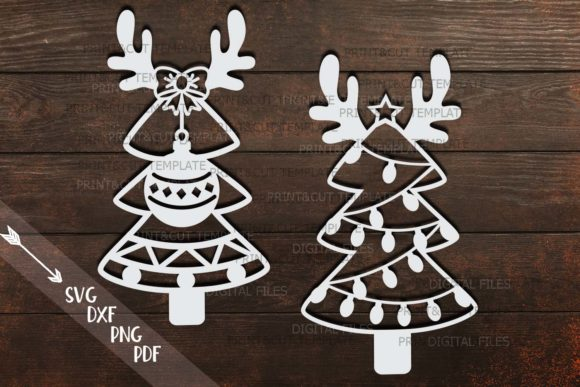 Download Free Christmas Tree Graphic By Cornelia Creative Fabrica for Cricut Explore, Silhouette and other cutting machines.