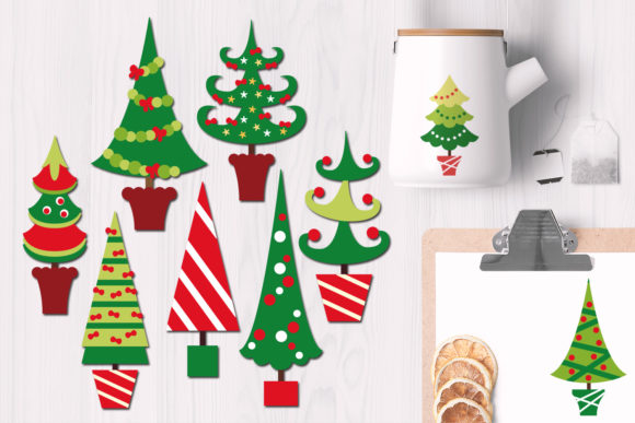 Download Free Christmas Trees And Wreaths Bundle Graphic By Revidevi SVG Cut Files
