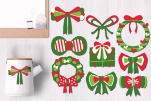 Christmas Wreath Ribbons Graphic By Revidevi