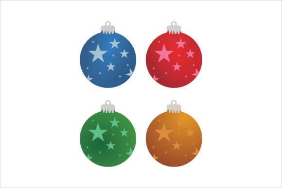 Print on Demand: Christmas Ball Decoration Graphic Icons By LeisureProjects