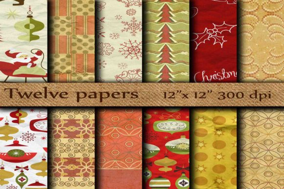 Download Free Christmas Digital Paper Graphic By Twelvepapers Creative Fabrica for Cricut Explore, Silhouette and other cutting machines.