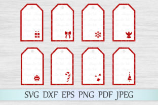 Download Free Christmas Gift Tags Svgs Graphic By Magicartlab Creative Fabrica for Cricut Explore, Silhouette and other cutting machines.