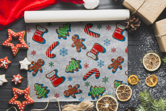 Christmas Gingerbread Patterns. Graphic By grigaola Image 3