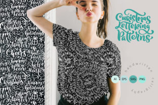 Christmas Lettering Patterns Graphic Patterns By Happy Letters