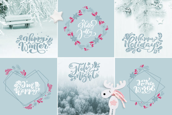 Download Free Christmas Lettering Quotes Design Graphic By Happy Letters for Cricut Explore, Silhouette and other cutting machines.