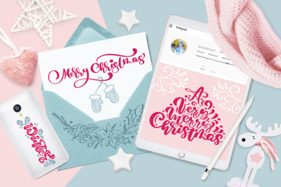 Download Free Christmas Lettering Quotes Design Graphic By Happy Letters SVG Cut Files