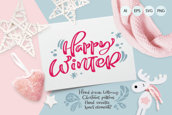 Christmas Lettering Quotes & Design Graphic Objects By Happy Letters