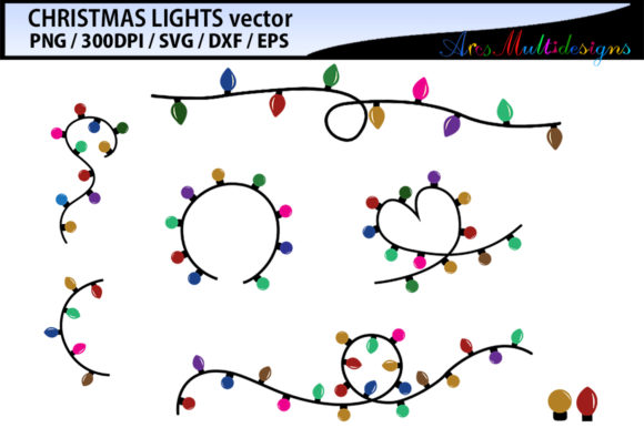 Download Free Christmas Light Vector Svg Vector Grafico Por Arcs Multidesigns SVG Cut Files