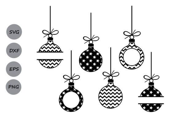 Download Free Christmas Ornaments Graphic By Cosmosfineart Creative Fabrica for Cricut Explore, Silhouette and other cutting machines.