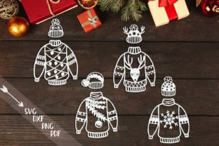 Download Free Christmas Sweater Bundle Graphic By Cornelia Creative Fabrica for Cricut Explore, Silhouette and other cutting machines.