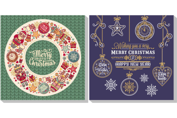 Download Free Christmas Template Greeting Card Graphic By Zoyali Creative SVG Cut Files