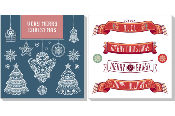 Print on Demand: Christmas Template Greeting Card Graphic Graphic Templates By zoyali