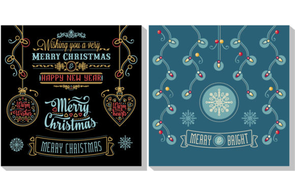 Print on Demand: Christmas Template Graphic Illustrations By zoyali